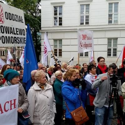 Protest ZNP w Bydgoszczy